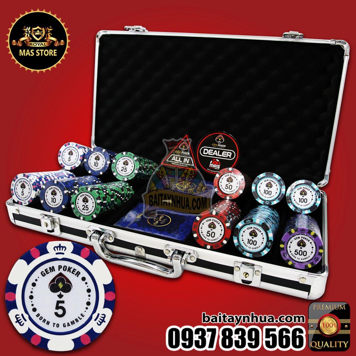 300 Chip Poker BIGBANG Có Số Cao Cấp - GPC01