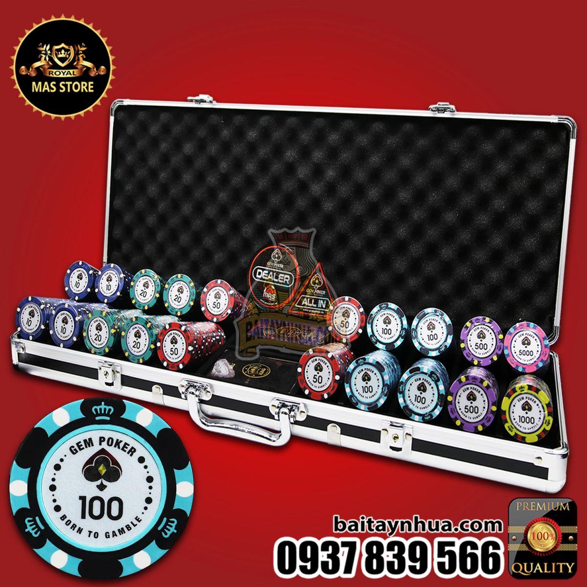 500 Chip Poker BIGBANG Có Số Cao Cấp - GPC01