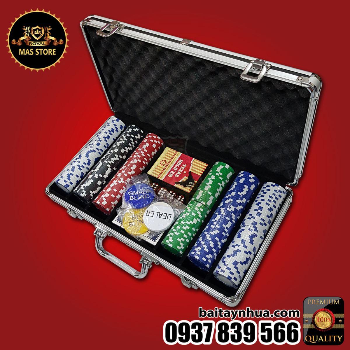 300 Chip Poker Không Số Cao Cấp