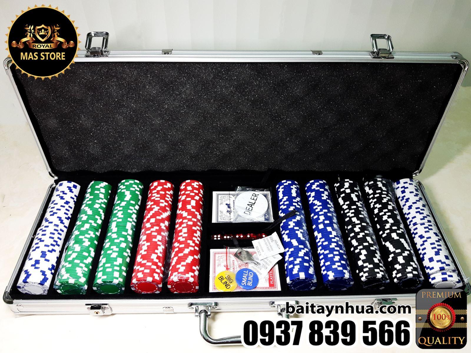 500 Phỉnh Chip Poker Không Số Cao Cấp