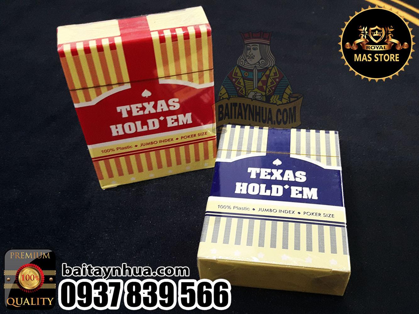 Bài Nhựa Poker TEXAS Cao Cấp 100% Plastic - JUMBO