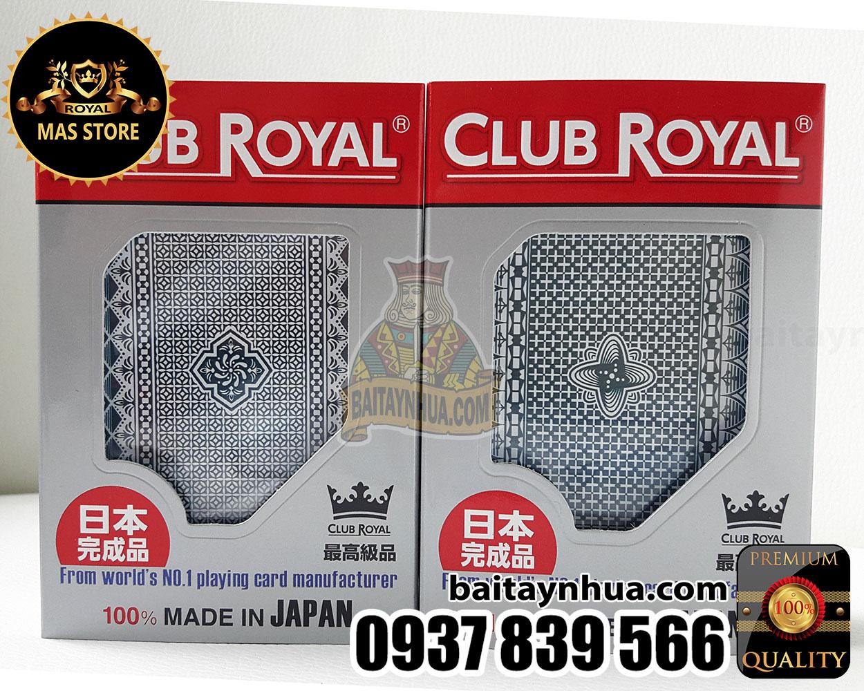 Bài Nhật CLUB ROYAL Cao Cấp 100% Plastic - Made in Japan