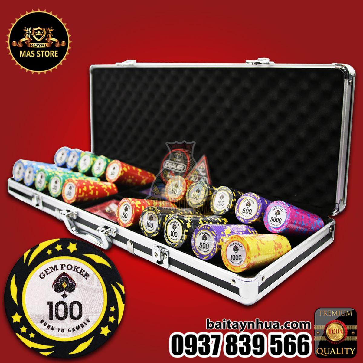 500 Chip Poker KINGSTAR Có Số Cao Cấp - GPC03 - 2020!