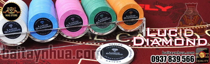 500 Chips  LUCID DIAMOND 100% Ceramic - Vali Gỗ