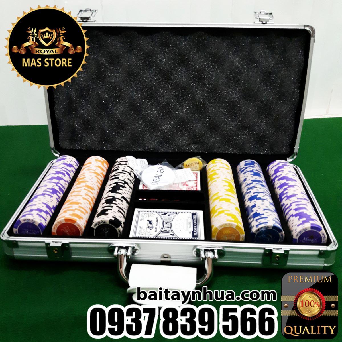 300 Phỉnh Poker Monte Carlo Cao Cấp Có Số