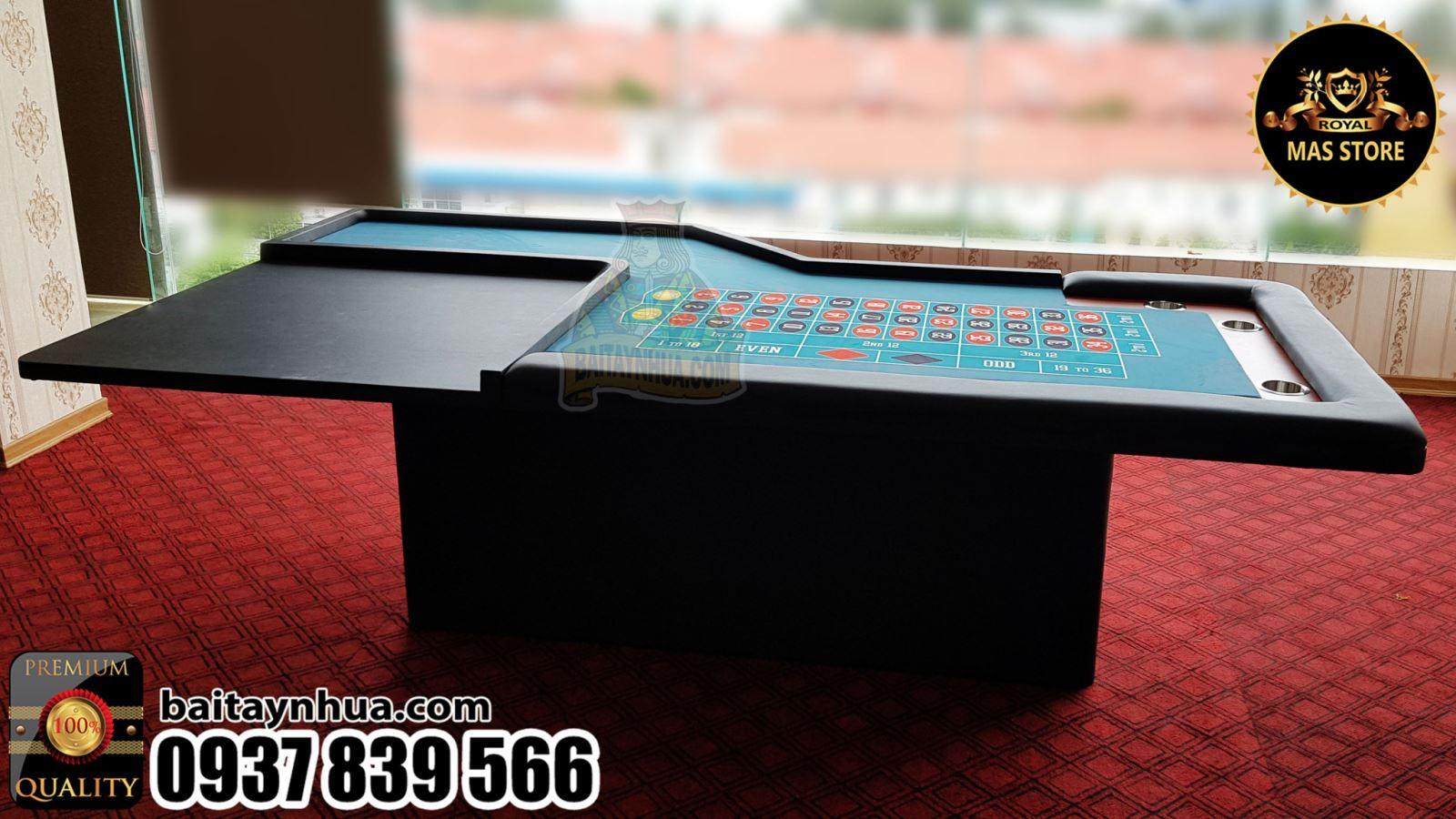 Bàn Roulette Chuẩn Casino Gỗ Cao Cấp