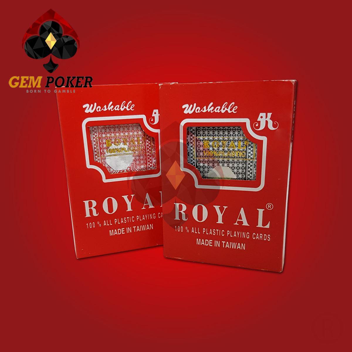 Bài Tây Nhựa Royal Cao Cấp 100% Plastic - Made in Taiwan