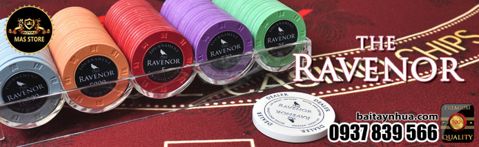 500 Chips THE RAVENOR 100% Ceramic - Vali Gỗ
