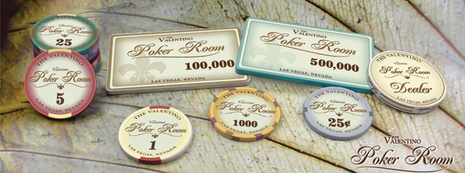 500 Chips VALENTINO 100% Ceramic - Vali Gỗ