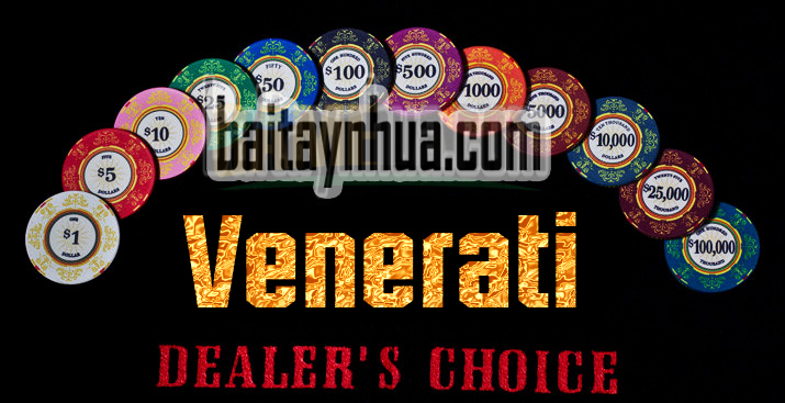 500 Chips Poker VENERATI 100% Ceramic - Vali Gỗ