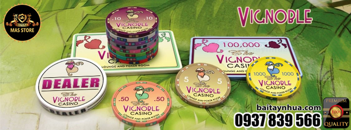 500 Chips VICNOBLE 100% Ceramic - Vali Gỗ