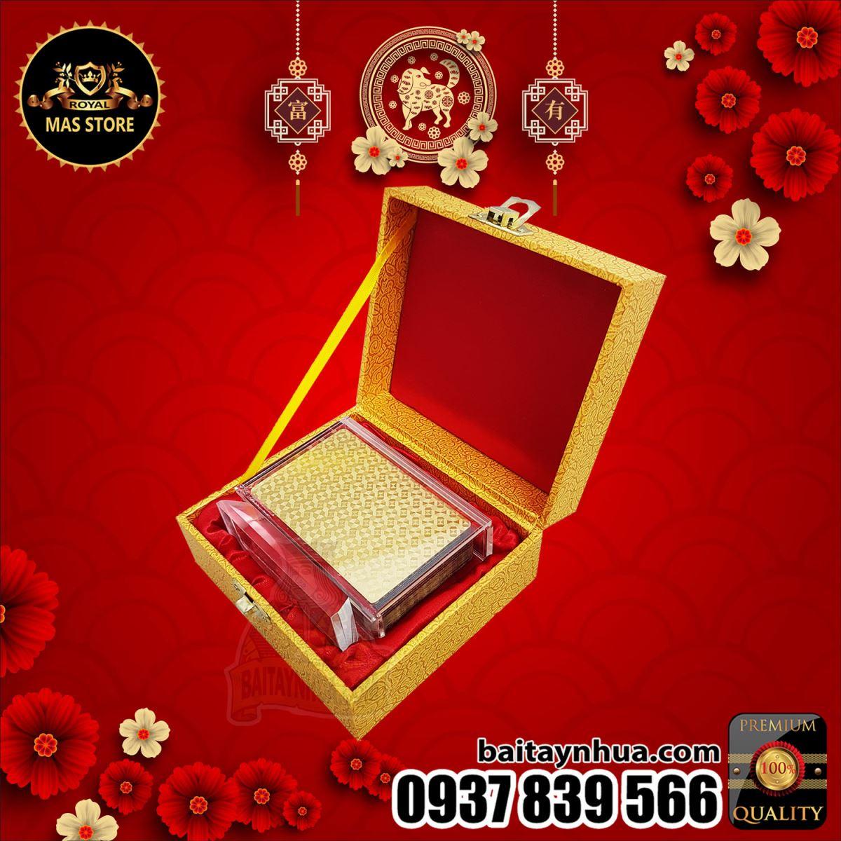 Bài Tây Mạ Vàng Cao Cấp - GOLD BOX