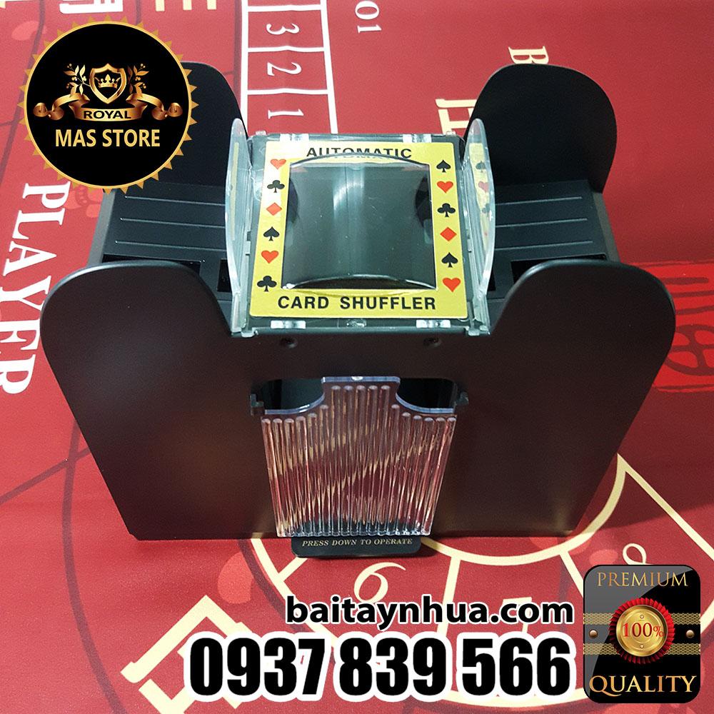 Máy Xào Bài 6 Bộ Cao Cấp Casino - Card Shuffler
