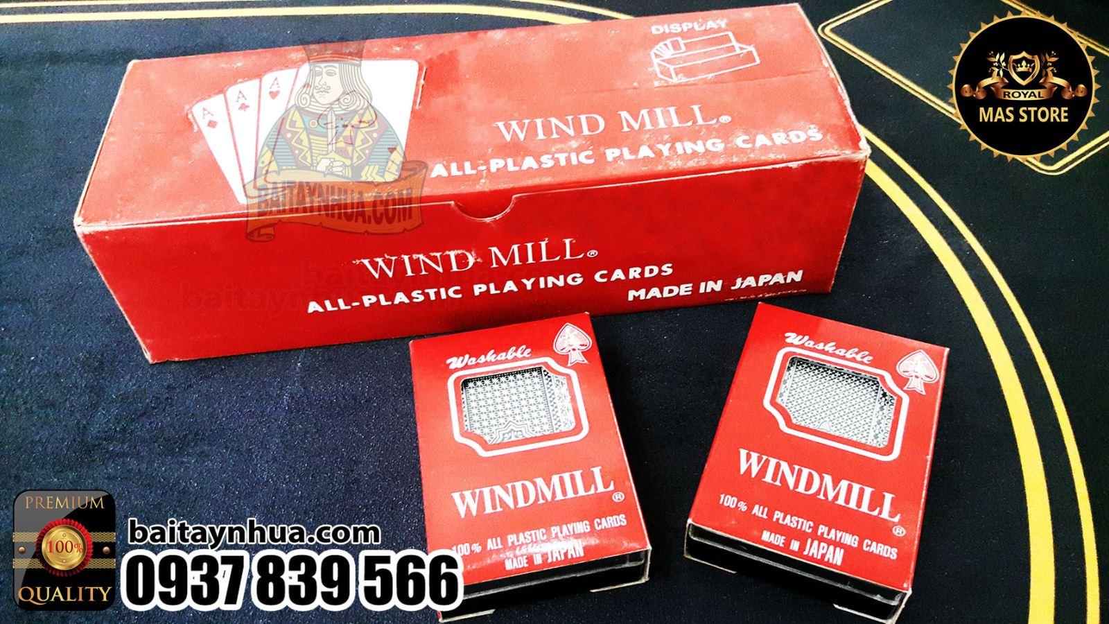 Bài Nhựa Nhật Windmill Cao Cấp 100% Plastic - Made in Japan